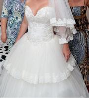 Шикароное свадебное платье!