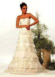 шикарное свадебное  платье из америки