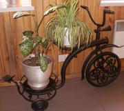 Оригинальная подставка под цветы «Кованый велосипед»