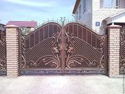 Ворота заборы козырьки решетки  и другие кованные изделия