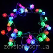 Гирлянда Светодиодная — LED Бахрома-Сердечки-60