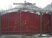 Кованые ворота с установкой в Коротени