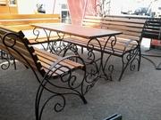 Кованые скамейки и лавочки