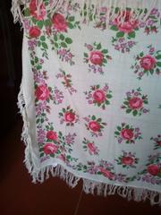 платок хустка шерсть винтаж национальный