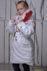 От производителя. Теплое зимнее пальто (куртка) на девочку. Распродажа