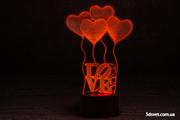 3D светильники - новинка 2017 года