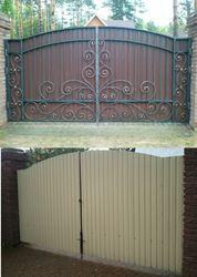 Кованые ворота в Коростене