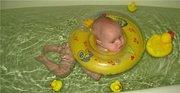 Продам новый надувной круг-воротник на шею для купания младенцев