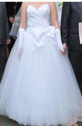 Продам шикарное свадебное платье (цельное)